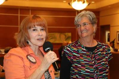 Arleen Sirois introduced her long time friend Sandy.