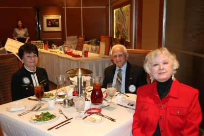 At President Jackie's head table were our speaker Donna Foley Mabry, Jerry Engel and Diane Clary.