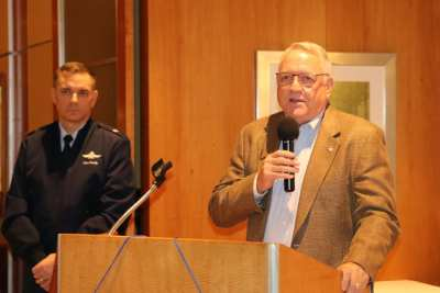 Ted McAdam led with the invocation and the Air Force Song.