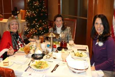 At President Jackie's head table were Rose Falocco, PP Kathy Dalvey and Rosalee Hedrick.