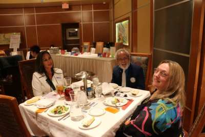 At President Jackie's head table were her friend Brenda Brown, Dr Andy Kuniyuki and our speaker Theresa Bower.