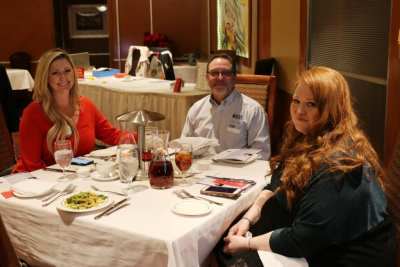 At President Jackie's head table were Carey Grohs, her husband Chuck and our speaker Kimberly Mull.