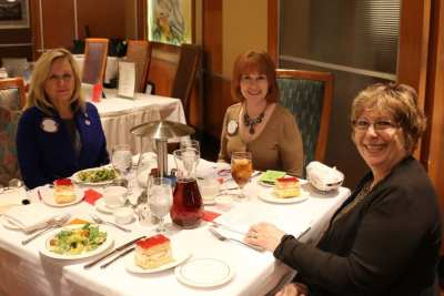 At President Jackie's head table were Keri Serrano, Arlene Sirois and Judith Pinkerton.