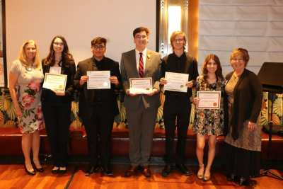 President Jackie presented awards to our Dan Stover music competitors along with Judith Pinkerton who Chaired the event.