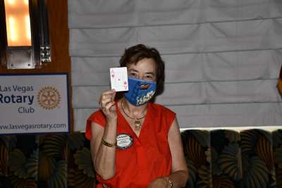 Kathy Mahon is all aces every meeting in supporting our foundation.