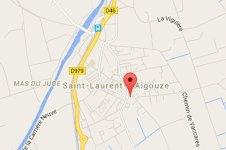 Plan d'accès à l'auberge de Camargue LA TABLE A RALLONGE à Saint Laurent d'AIGOUZE