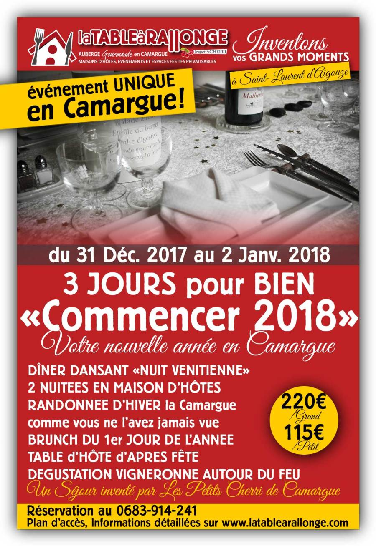 Fête du jour de l'an 2018 en Camargue et Séjour clé en main pour la fin d'année 2018