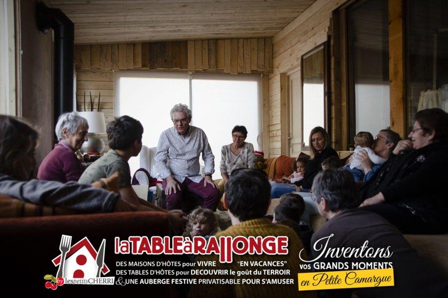Les goûters de conteurs à LA TABLE à RALLONGE, l'auberge enchantée de Saint-Laurent d'Aigouze en Camargue