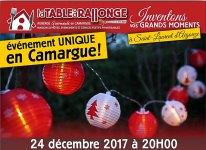 Fête et repas de réveillon de Noël 2017 à LA TABLE à RALLONGE l'auberge festive de Saint-Laurent d'Aigouze en Camargue