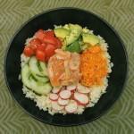 Fish bowl au saumon