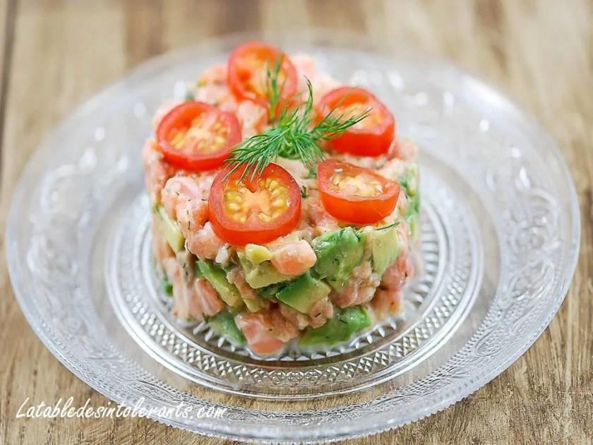recette entrée au saumon et à l'avocat
