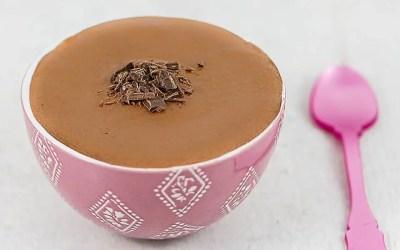 CRÈME AU CHOCOLAT sans gluten, sans lait, avec ou sans sucre, sans œuf