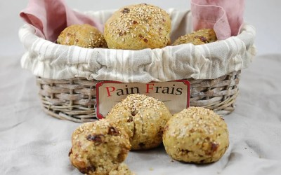 PETITS PAINS NOIRS AUX NOIX sans gluten, sans lait, sans sucre, sans levure
