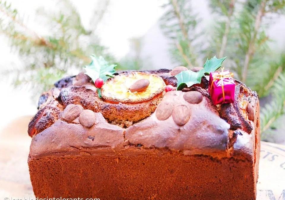 CAKE DE NOËL sans gluten, sans lait, sans sucre, sans levure, avec ou sans œuf