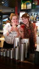 Fran and Claire at the Cocktail masterclass!