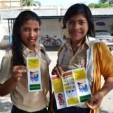 Copy of ALAPLAF2 girls with leaflet