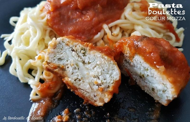 recette-pates-maison-boulette-poulet-mozzarella
