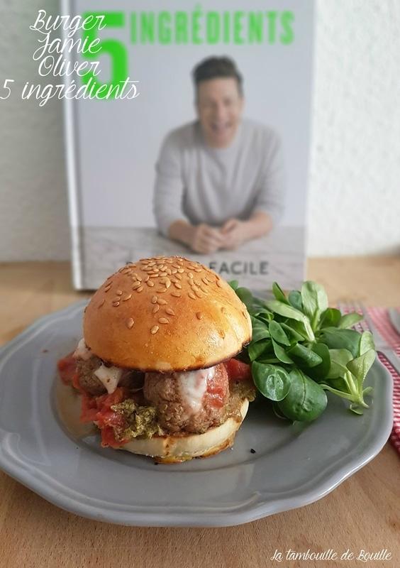 Burger de Jamie Oliver en 5 ingrédients