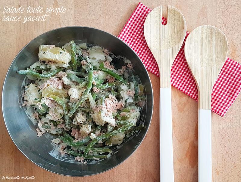 salade-pommedeterre-haricot-oignon-thon-yaourt-