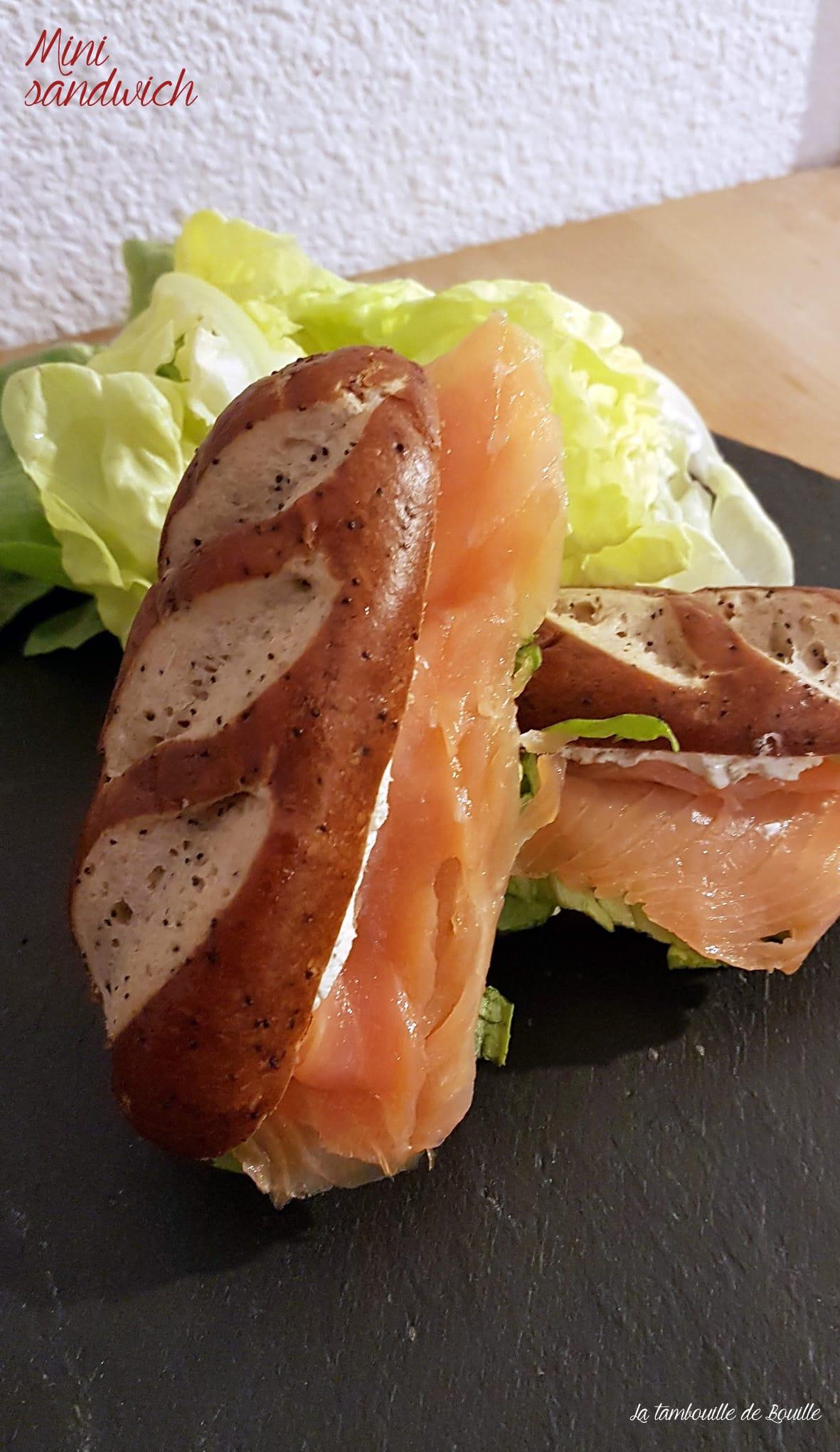 Minis sandwichs avec les pains façon Bretzel Pasquier (avis)