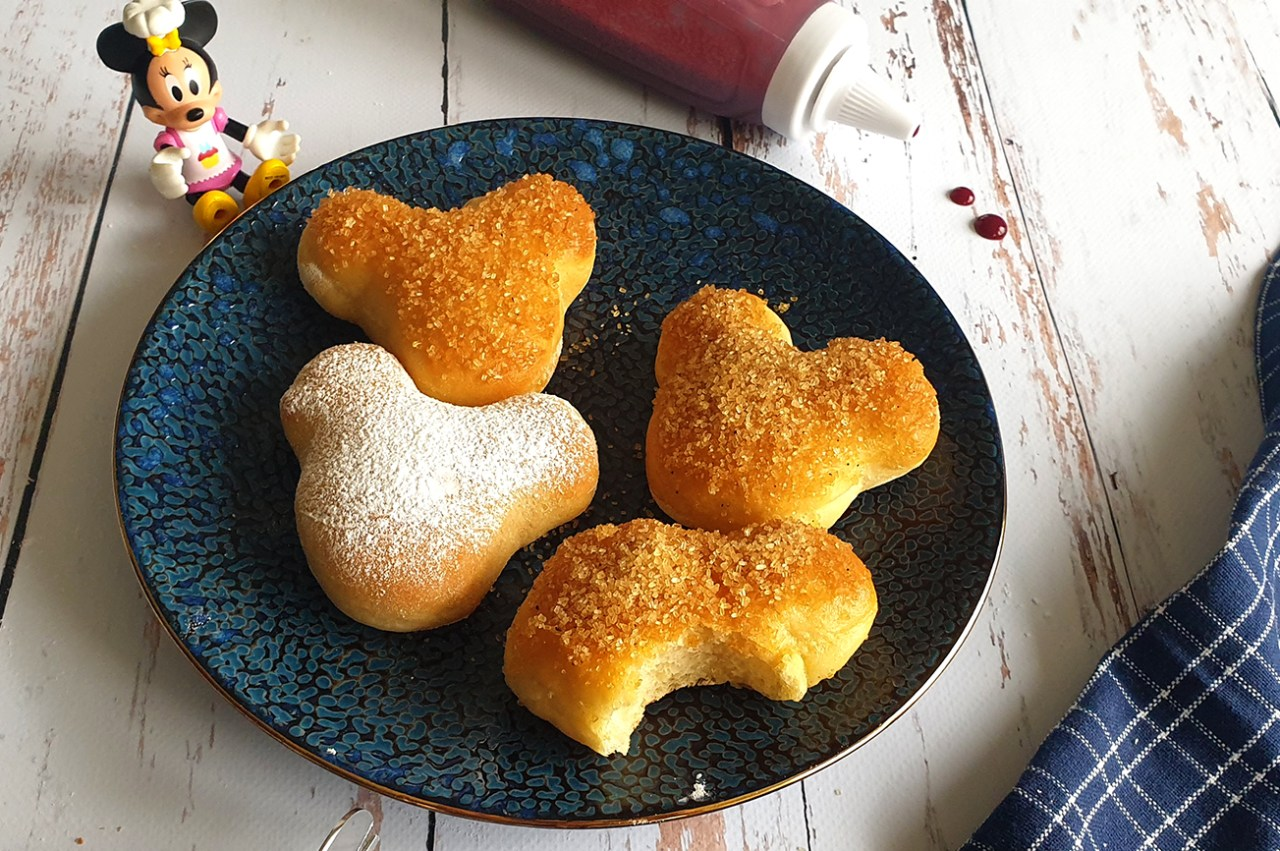Beignets Mickey au four