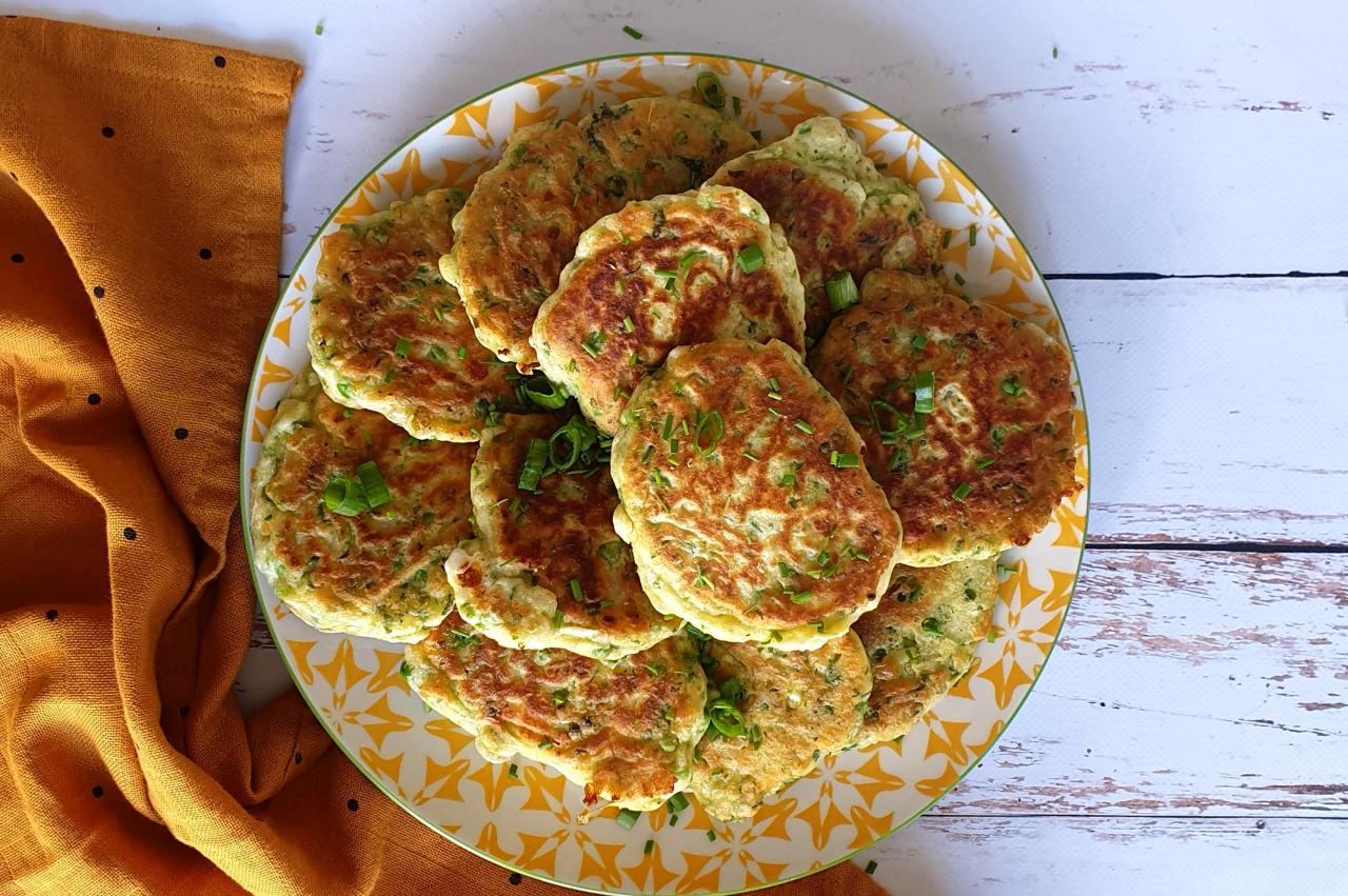 Pancakes petit pois féta