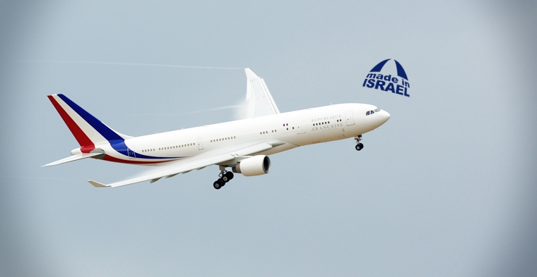 Francia: avión presidencial adopta sistema de defensa anti misiles israelí.