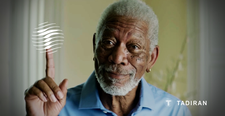 Miren a Morgan Freeman promocionando tecnología israelí. (Video imperdible de Domingo)