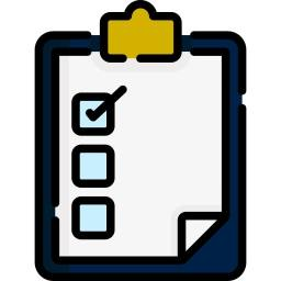 checklist with one item marked off