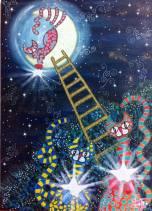 Cacciatori di stelle - Acrilico su tela 50x70