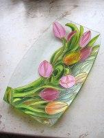 Vassoio con tulipani
