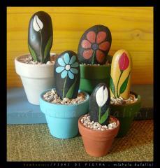 Pebble Art - Bomboniere fiorellini