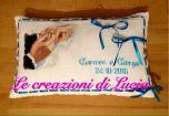 Le crocette colorate di Lucia - Cuscino Fedi per Matrimonio
