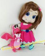 Emozioni Anigurumi - Bambola Pink con draghetto