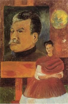 Autoritratto con Stalin - Opera di Frida Kahlo del 1954