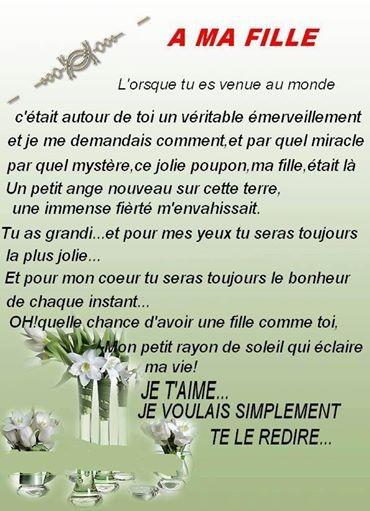 Poeme A Ma Fille Que J Aime : poeme, fille, DEDIE, FILLE, J'AIME+