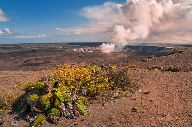 Hawaii vulcano Kilauea di giorno