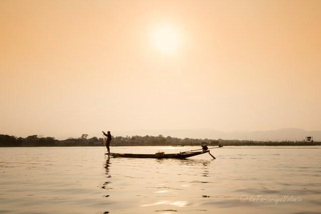 viaggio in Myanmar Lago Inle pesca al tramonto