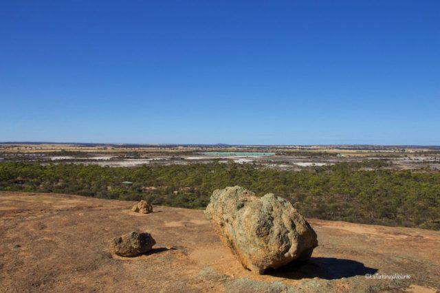 western australia sud, wave rock dall'alto