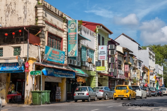 Borneo, Kuching strada del centro