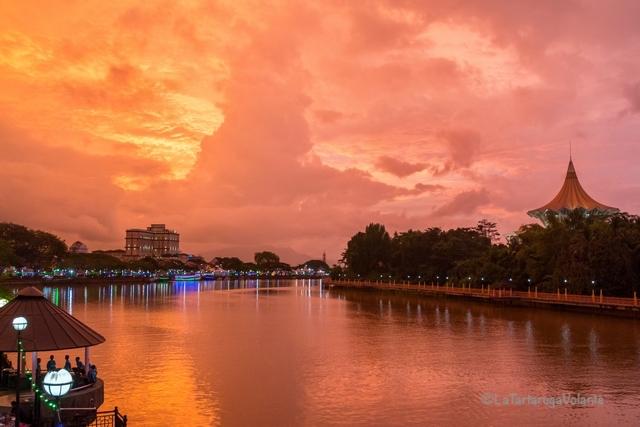 Borneo, Kuching tramonto meraviglioso