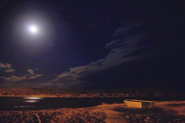 foto della luna a kalbarri