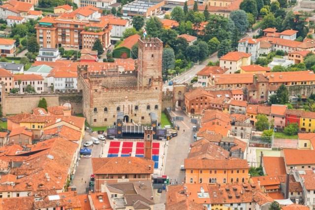 Marostica,piazza castello
