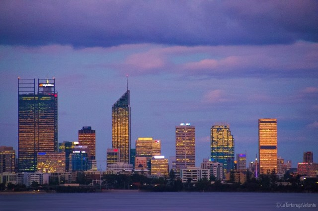 Perth di notte palazzi