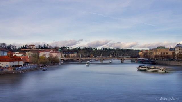 Praga, dal ponte carlo lato nord