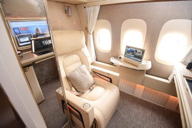 Posto aereo, emirates first class