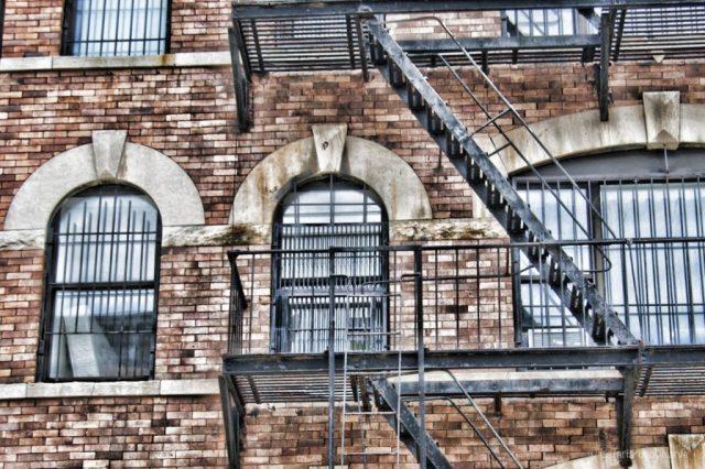 New York particolare di scale