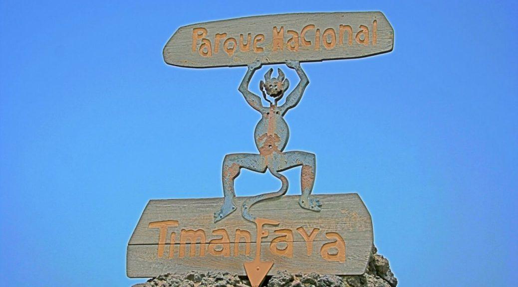 Lanzarote, segnale Parco Timanfaya