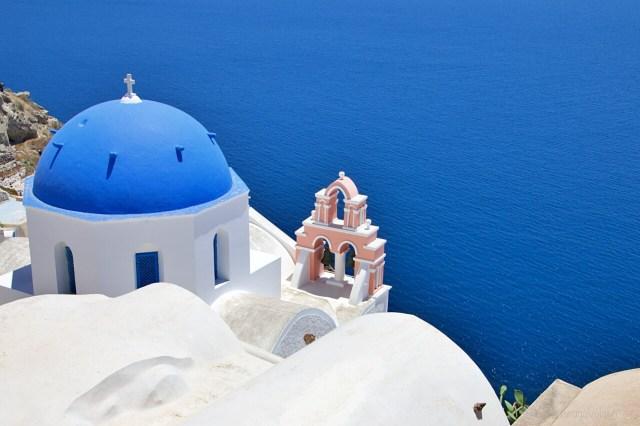 Cupola blu e rosa