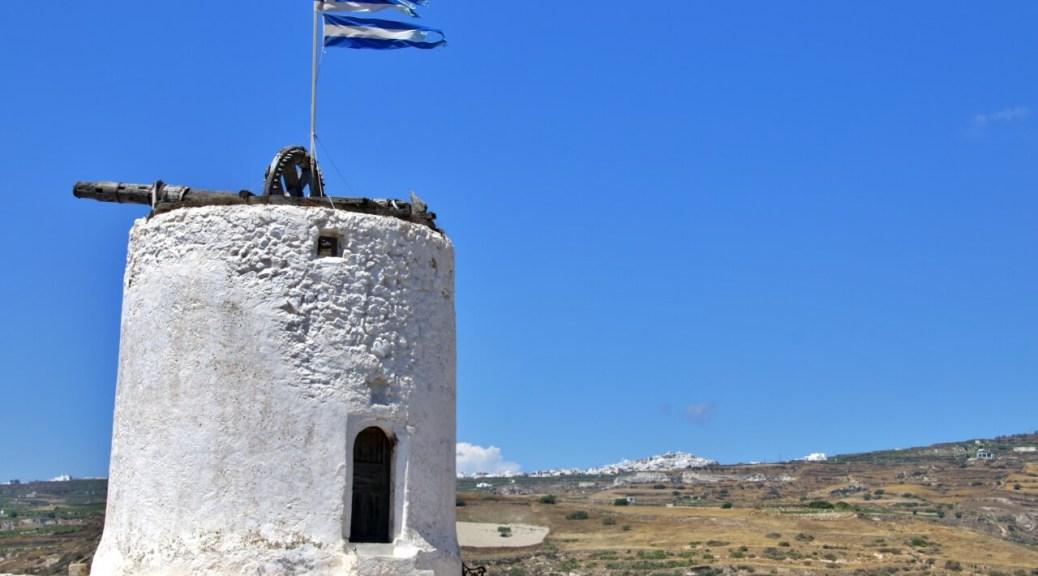 Come organizzare un viaggio a Santorini, vecchio mulino